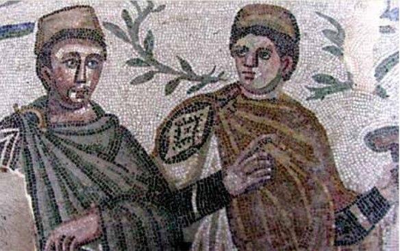 Mosaic from the Villa dei Casale, Piazza Armerina, Sicily. 3-4th century CE.