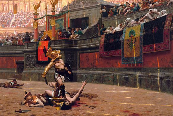 Pollice Verso (With a turned thumb), painting by Jean-Leon Gerome.