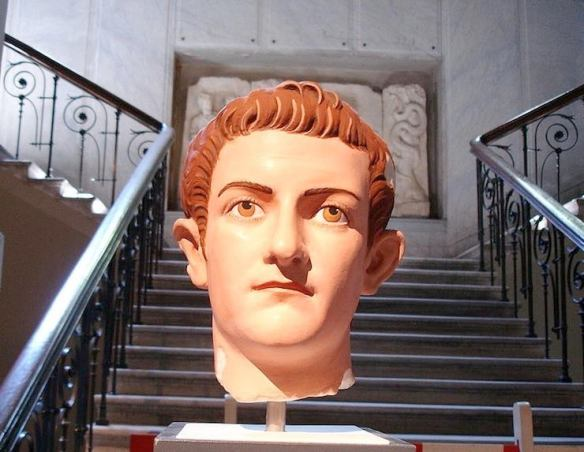 Reconstruction of the original polychromy of a Roman portrait of emperor Caligula, in the Istanbul Archaeological Museum. On a loan by the Glyptotek in Munich. Photo: Giovanni Dall'Orto
