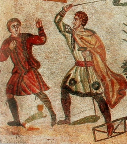 3rd Century Mosaic from the Villa Casale, Piazza Armerina, Sicily.